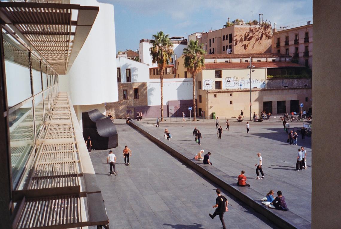 barcelona skateboarding 35mm
