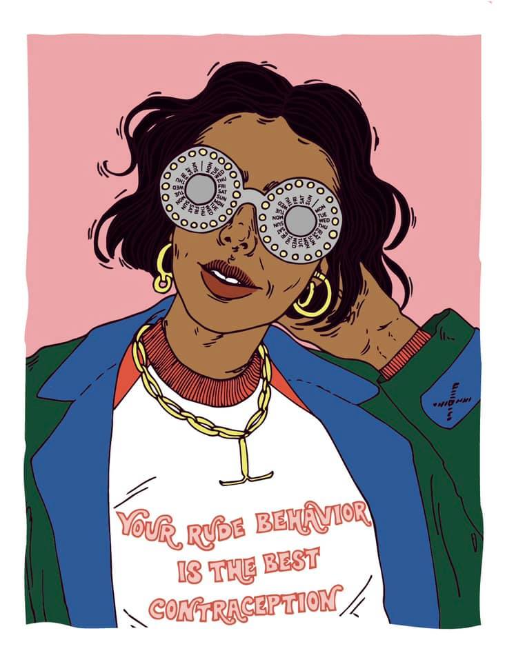feminist illustration grunge