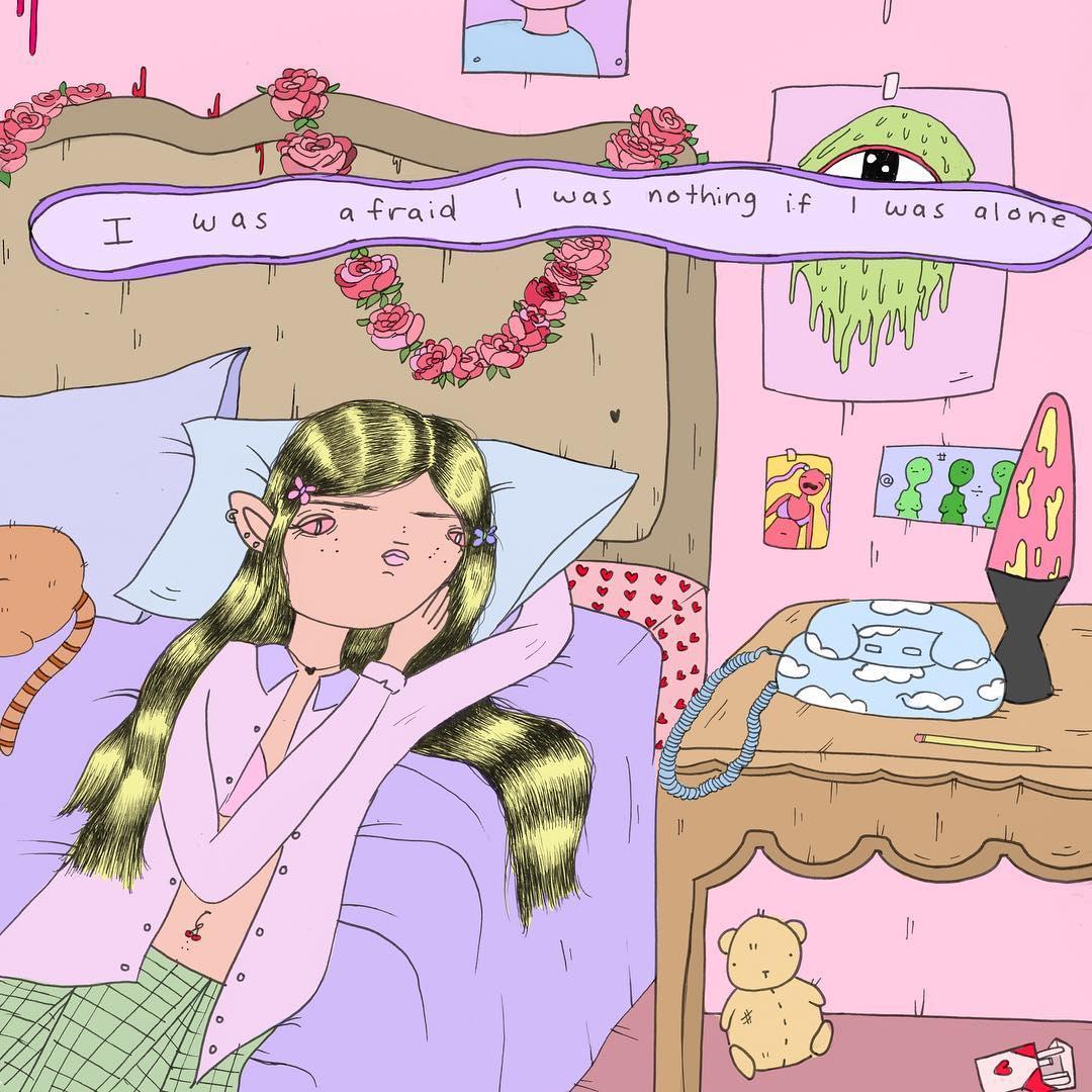pigiama magazine abby jame illustrations