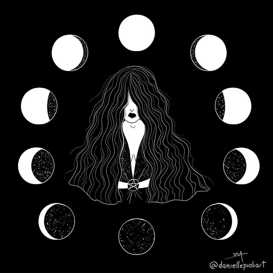 witch magazine illustration
