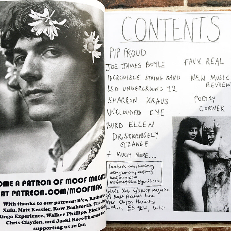 pages of underground magazine with hand scripts