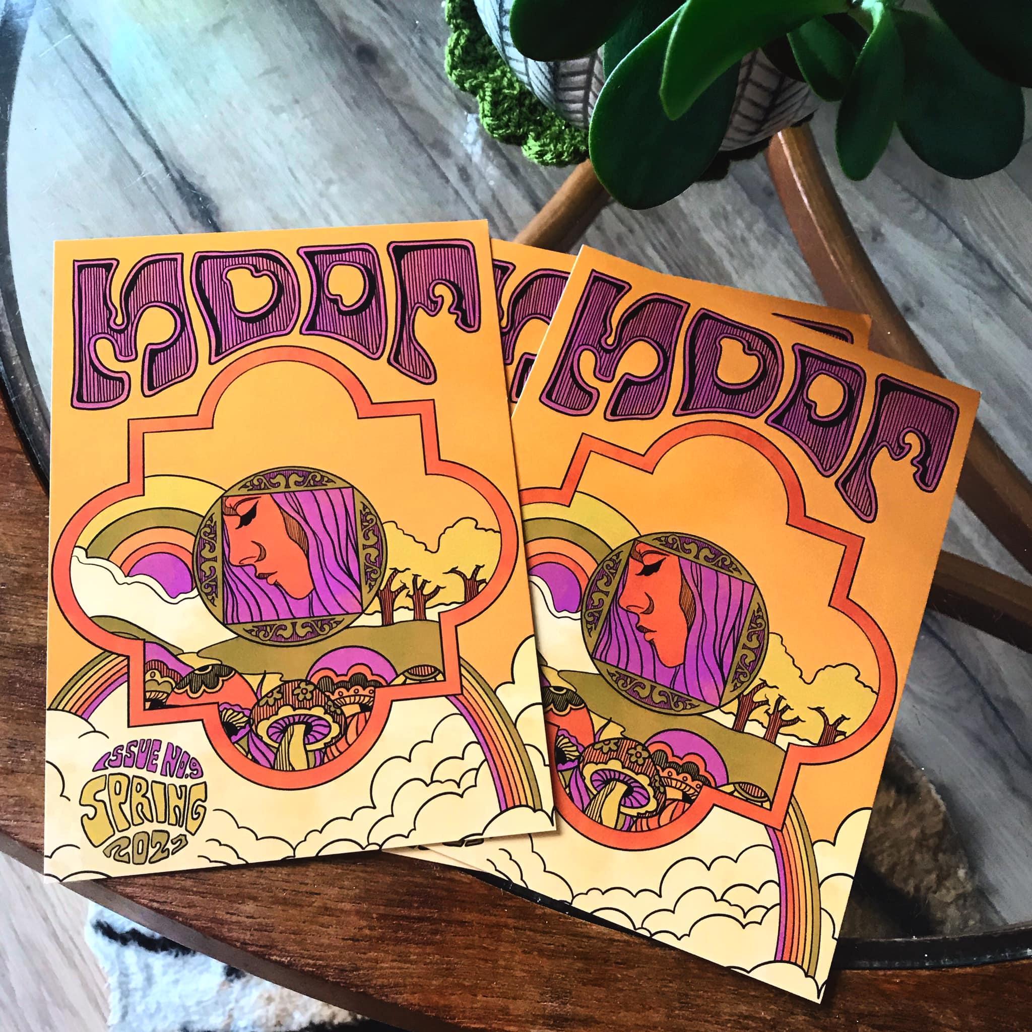Undergound Magazine on a vintage table